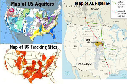 Fracking Sites and Aquifers