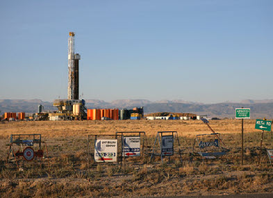 Typical Fracking Site